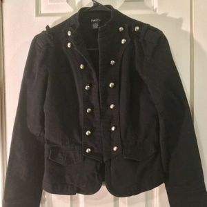 Military Style Jacket with silver buttons